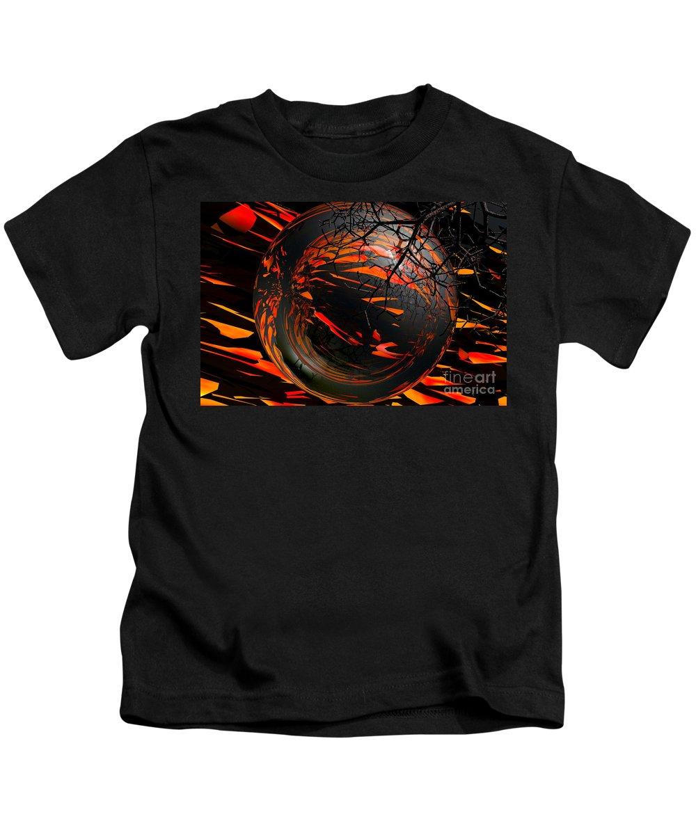 Sphere Kids T-Shirt featuring the digital art Simplicity by Robert Orinski