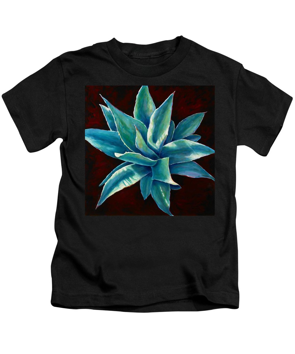 Agave Kids T-Shirt featuring the painting Simply Succulent by Shannon Grissom