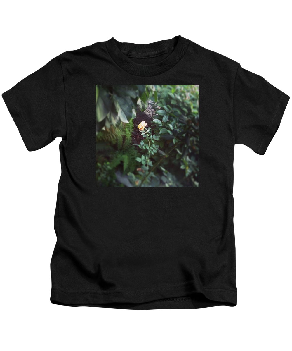 Rose Kids T-Shirt featuring the photograph Single Perfect Rose by Kory Olson
