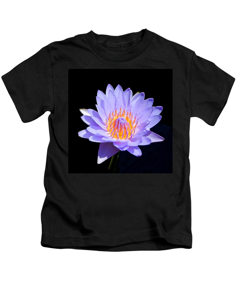 Water Lily Kids T-Shirt featuring the photograph Single Water Lily by Pamela Walton