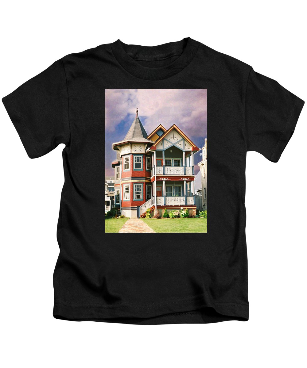 Landscape Kids T-Shirt featuring the photograph Sisters panel two of Triptych by Steve Karol