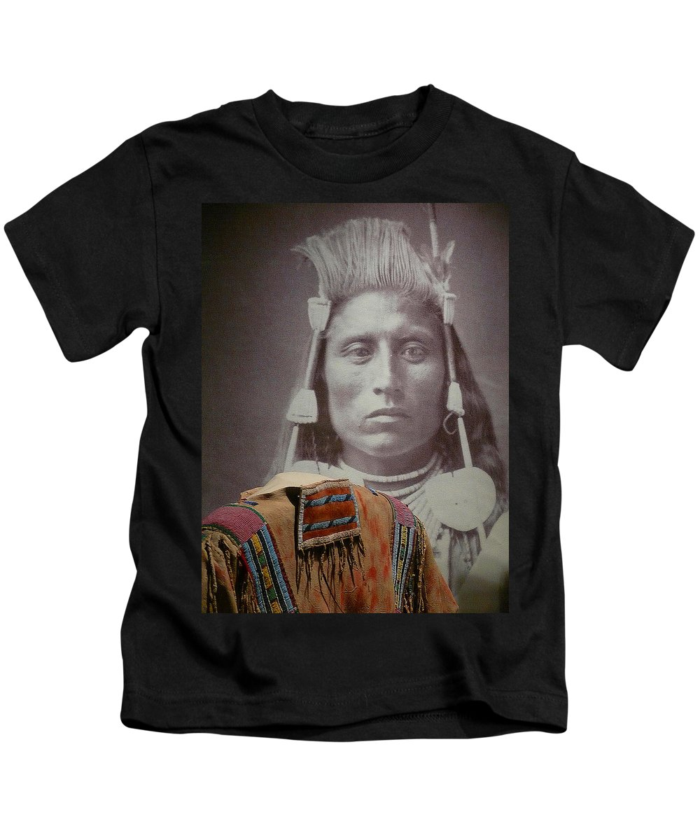 Native American Kids T-Shirt featuring the photograph Native American Indian by John R Bryant