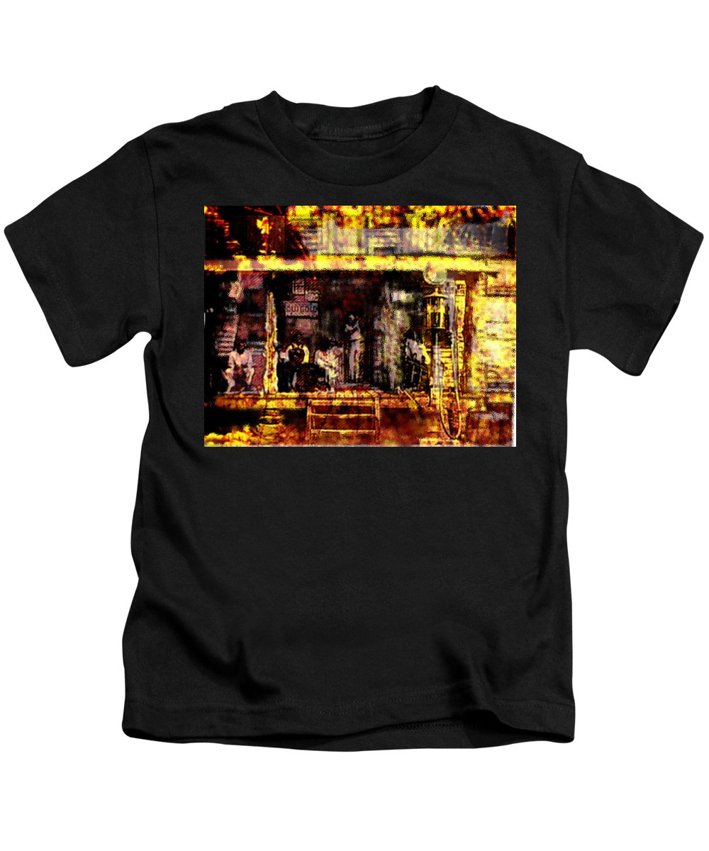 Sitting In The Shade Kids T-Shirt featuring the digital art Sitting In Shade by Seth Weaver