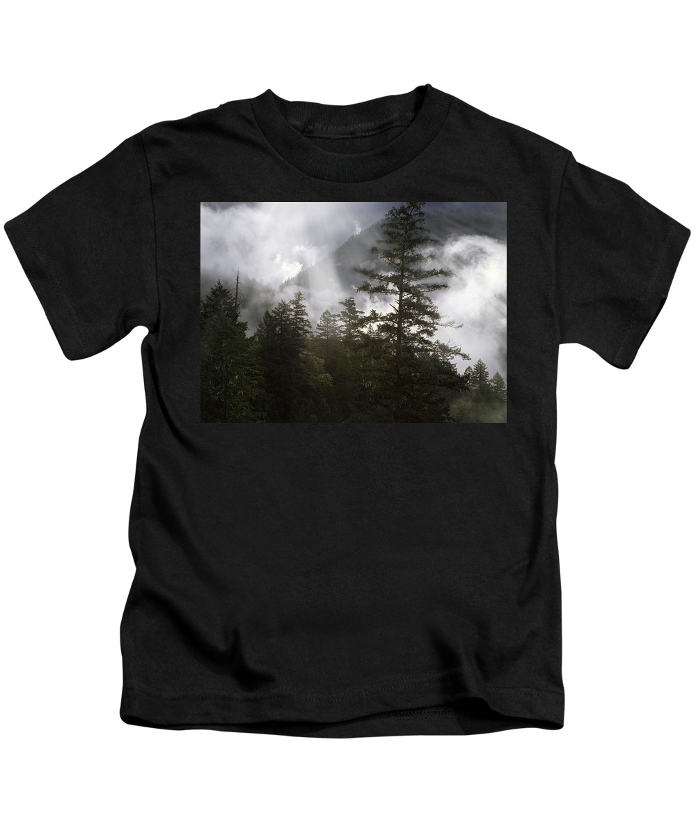Oregon Kids T-Shirt featuring the photograph Siuslaw National Forest by Leland D Howard