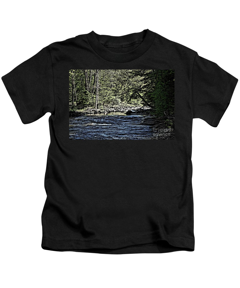 Landscape Kids T-Shirt featuring the photograph Six Mile Creek Ithaca Ny by David Lane