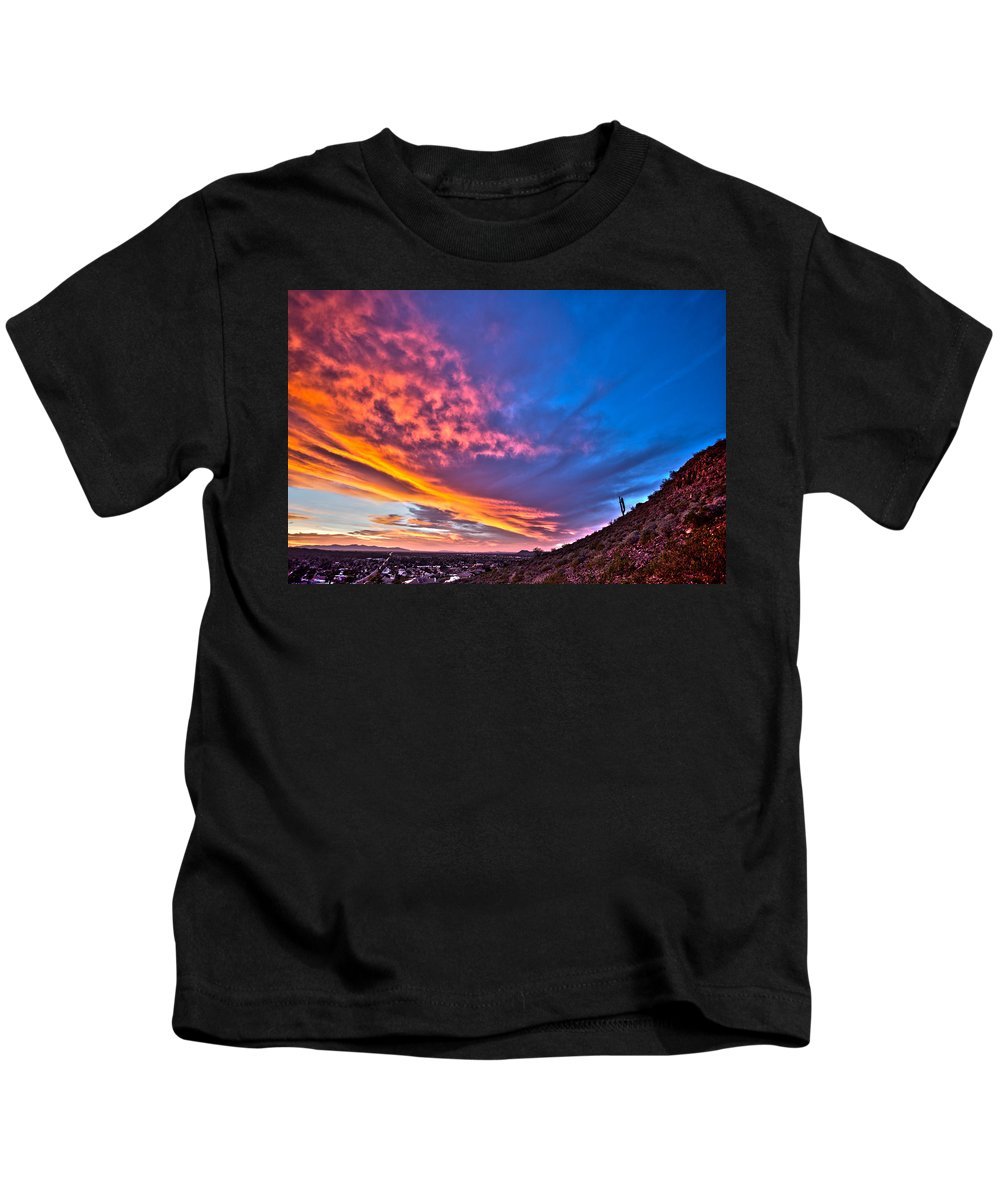 Arizona Kids T-Shirt featuring the photograph Sky Dream by Cathy Franklin