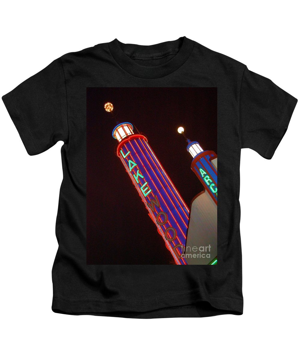 Neon Kids T-Shirt featuring the photograph Sky Lights by Debbi Granruth