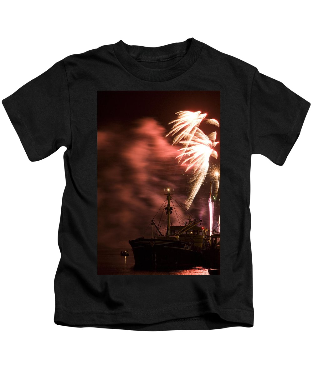 Fire Kids T-Shirt featuring the photograph Sky On Fire by Ian Middleton