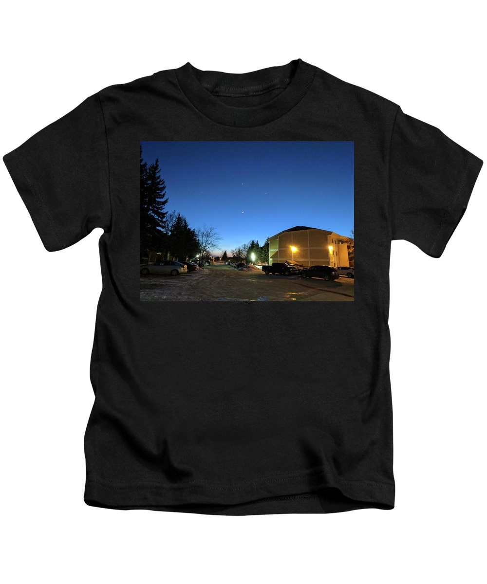 Nice View Kids T-Shirt featuring the photograph Sky Time by Anju Bandi