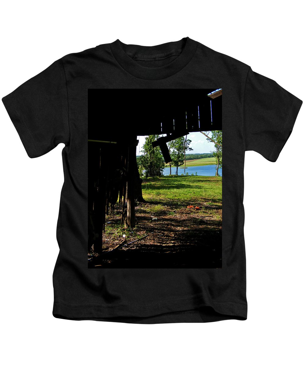 Landscape Kids T-Shirt featuring the photograph Skylights by Rachel Christine Nowicki