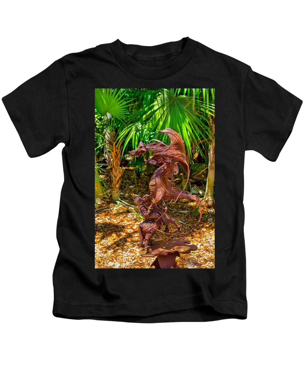 Ancient Kids T-Shirt featuring the photograph Slaying Dragons by John M Bailey