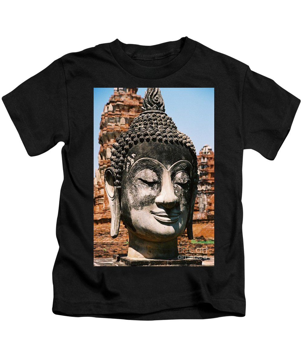 Statue Kids T-Shirt featuring the photograph Sleepy Face by Mary Rogers