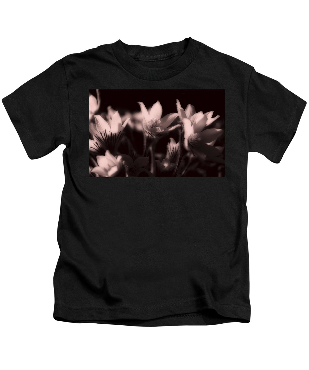 Flowers Kids T-Shirt featuring the photograph Sleepy Flowers 2 by Marilyn Hunt