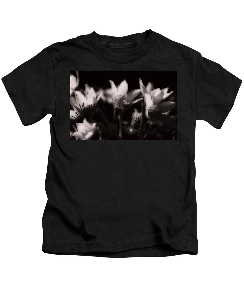 Flowers Kids T-Shirt featuring the photograph Sleepy Flowers by Marilyn Hunt