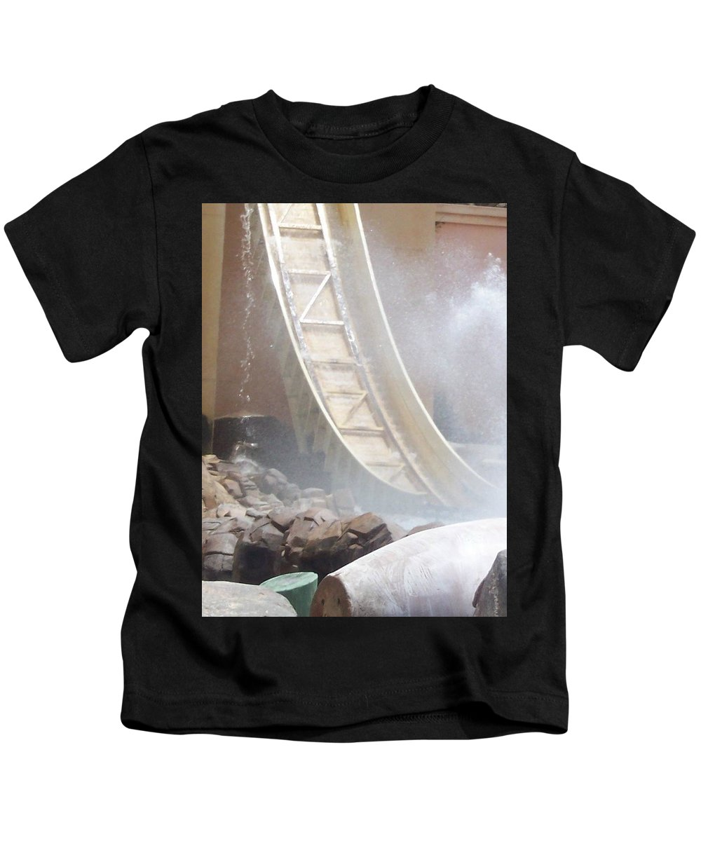 Slide Kids T-Shirt featuring the photograph Slide Splash by Pharris Art