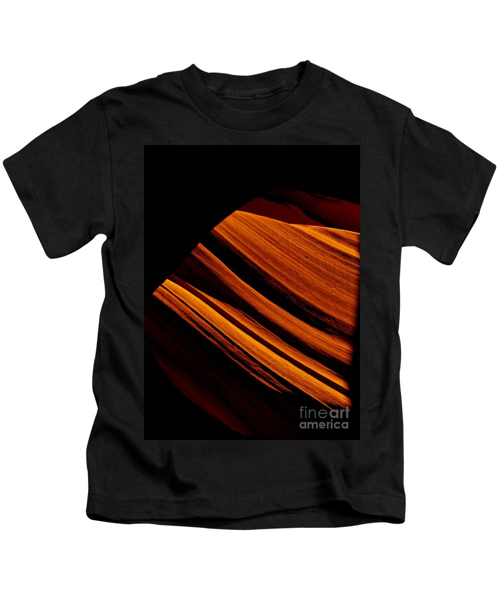 Slot Canyon Kids T-Shirt featuring the photograph Slot Canyon Striations by Scott Sawyer