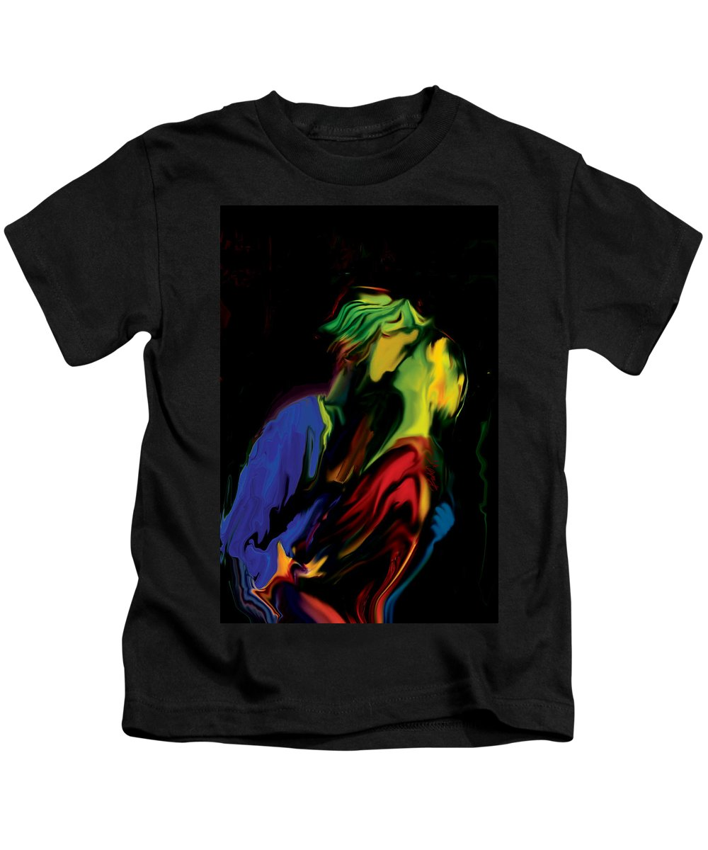 Black Kids T-Shirt featuring the digital art Slow Dance by Rabi Khan