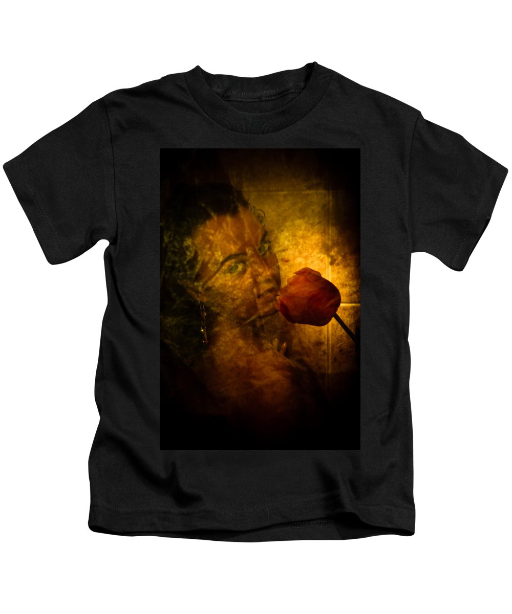 Flower Kids T-Shirt featuring the photograph Smelling The Flowers by Scott Sawyer