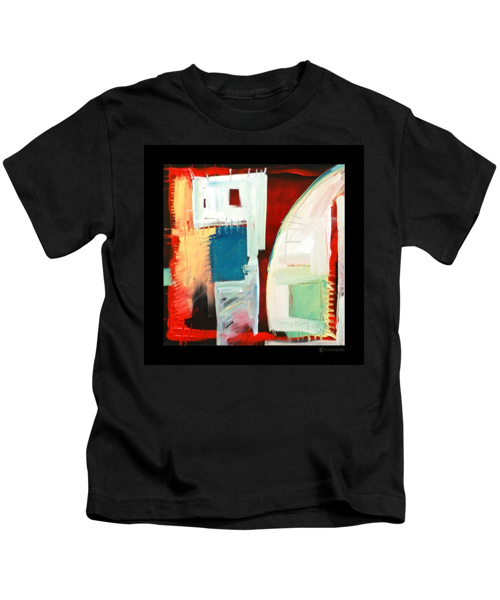 Color Kids T-Shirt featuring the painting Smilin by Tim Nyberg