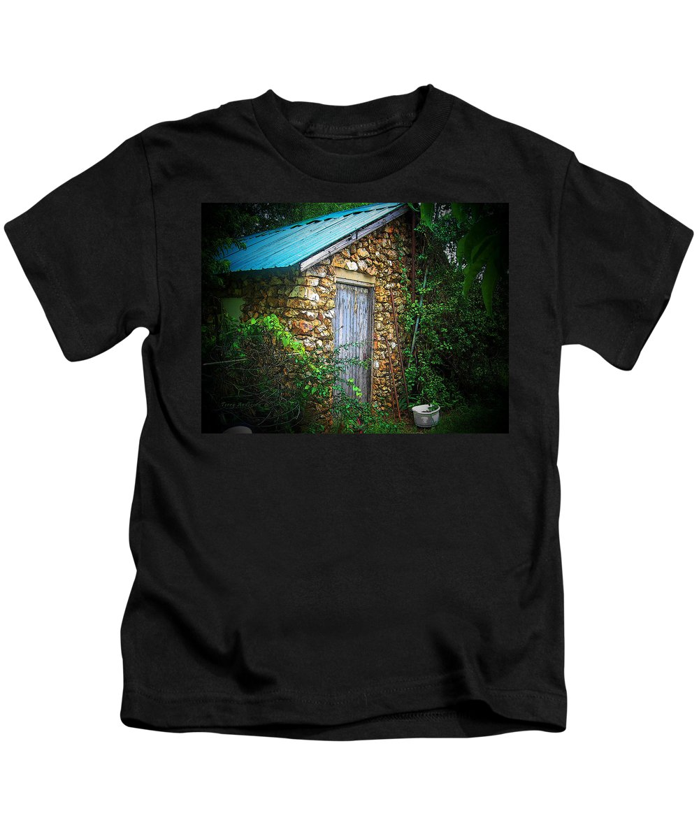 Smoke Kids T-Shirt featuring the photograph Smoke House by Terry Anderson