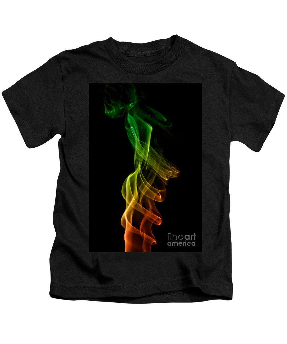 Abstract Kids T-Shirt featuring the photograph smoke XXII by Joerg Lingnau