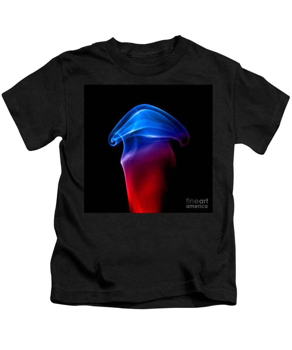 Abstract Kids T-Shirt featuring the photograph smoke XXIX by Joerg Lingnau