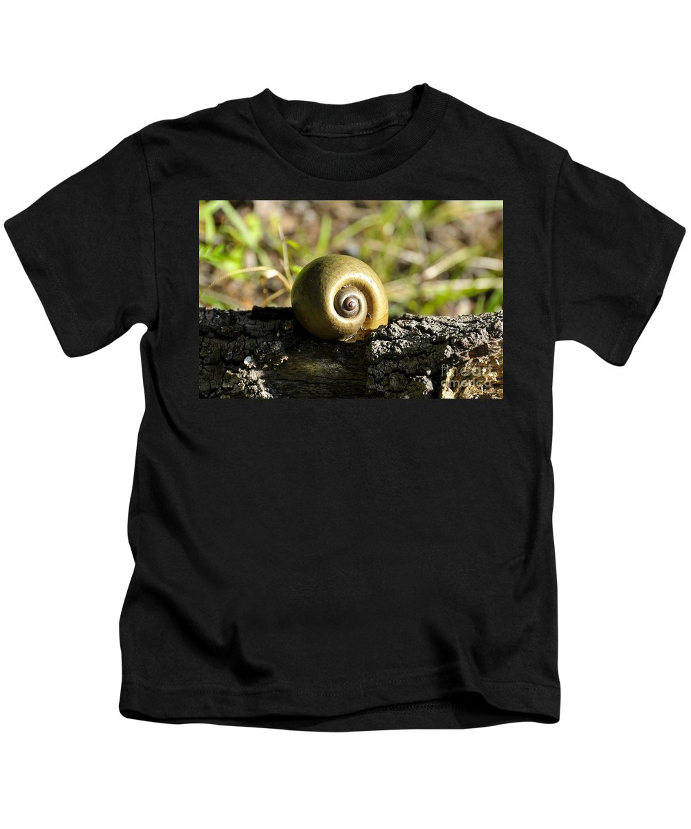 Snail Kids T-Shirt featuring the photograph Snail by David Lee Thompson