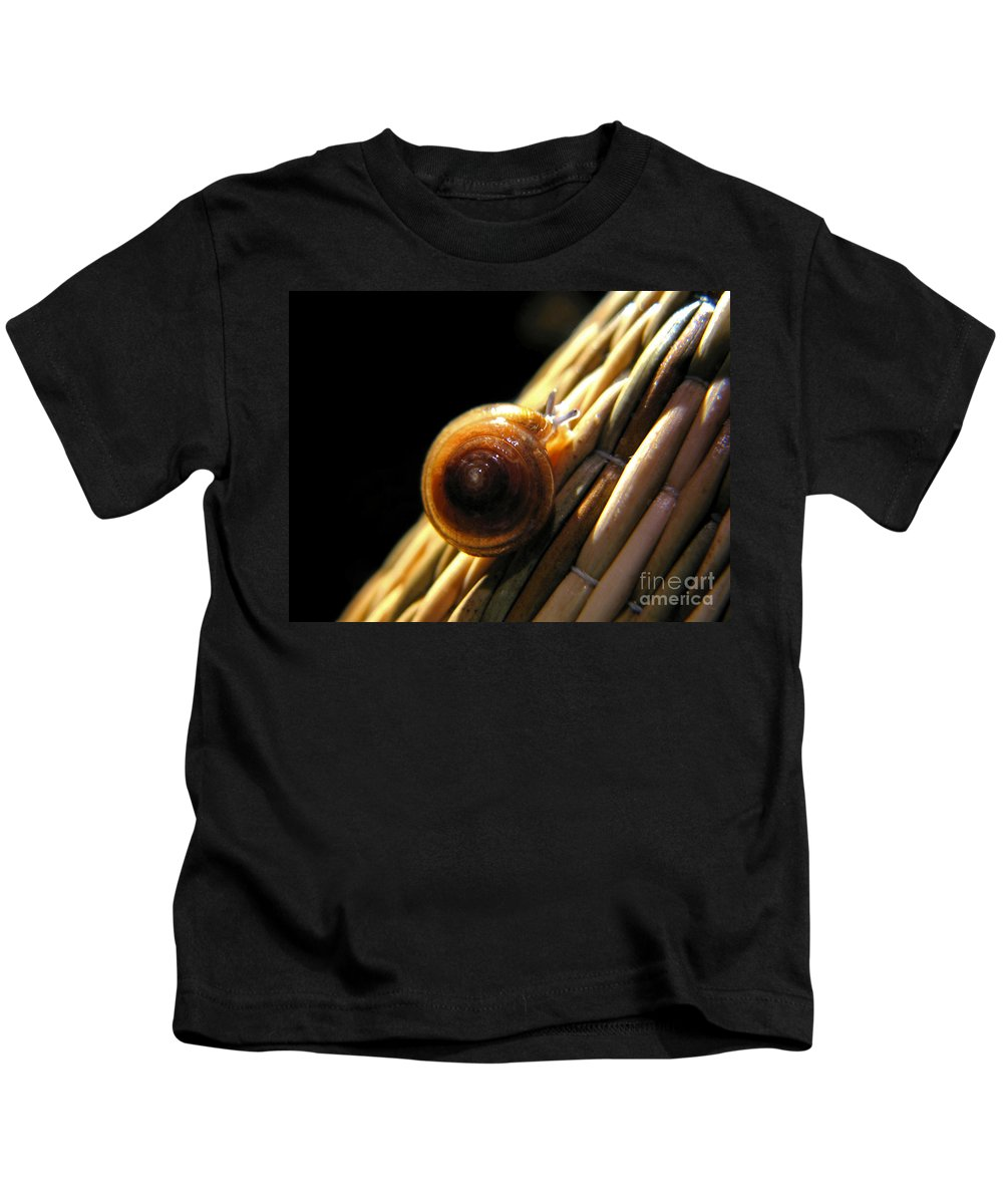 Macro Kids T-Shirt featuring the photograph Snail by Todd Blanchard
