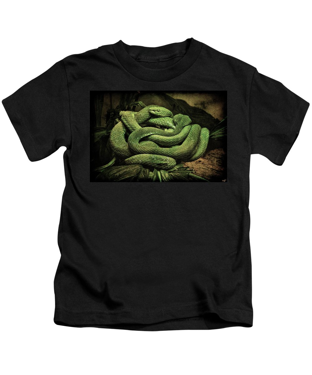 Snake Kids T-Shirt featuring the photograph Snakes Alive by Chris Lord