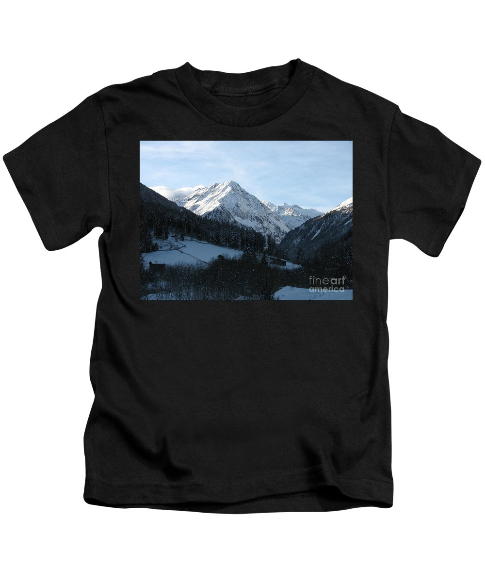 Snow Kids T-Shirt featuring the photograph Snow On The Mountains by Christiane Schulze Art And Photography