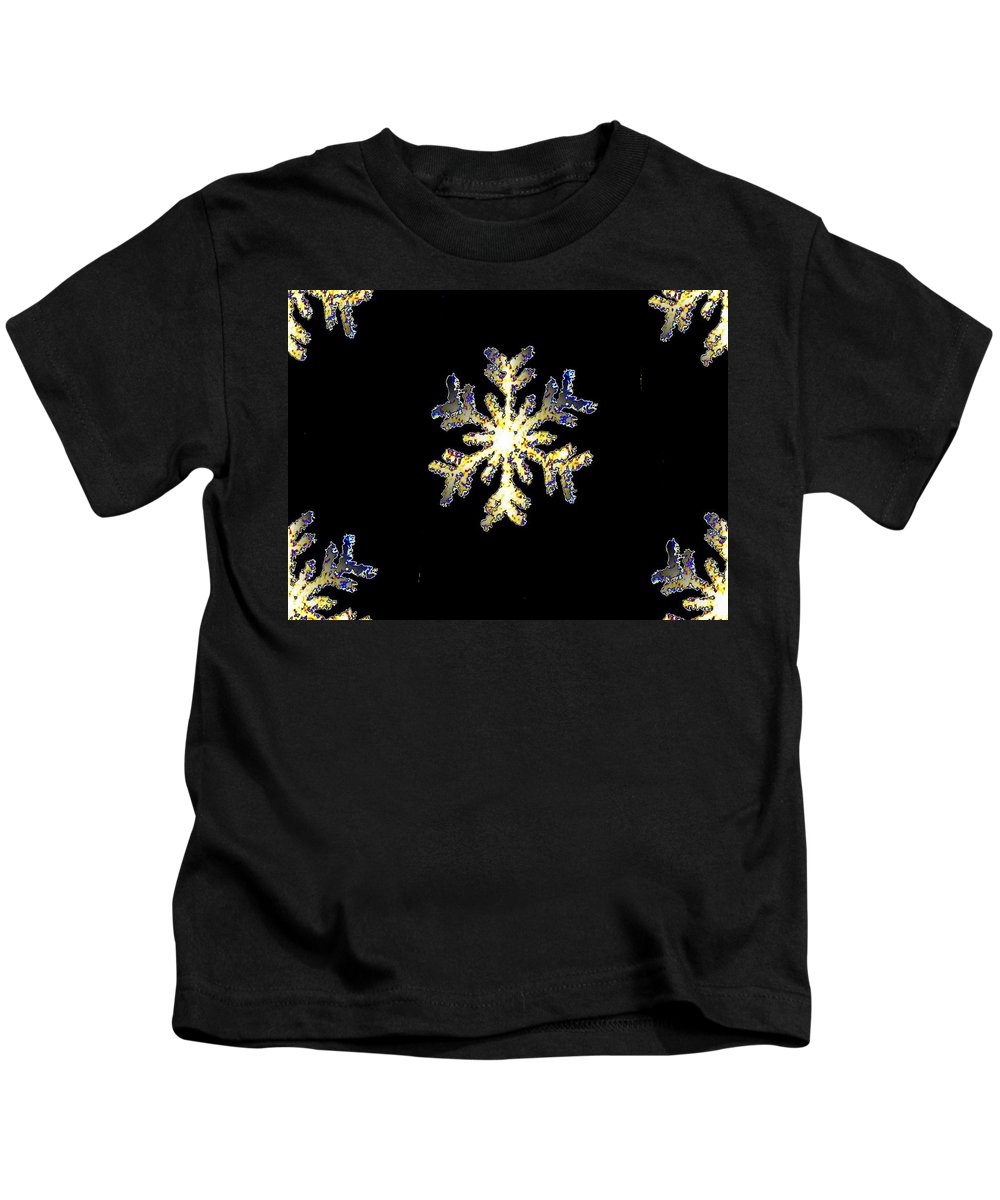 Snow Kids T-Shirt featuring the photograph Snowflakes by Tim Allen