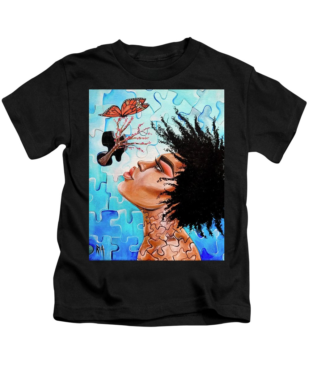 Butterfly Kids T-Shirt featuring the photograph So Much more to me that you just cant See by Artist RiA