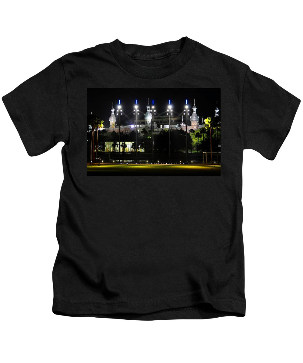 Fine Art Photography Kids T-Shirt featuring the photograph Soccer Anyone by David Lee Thompson