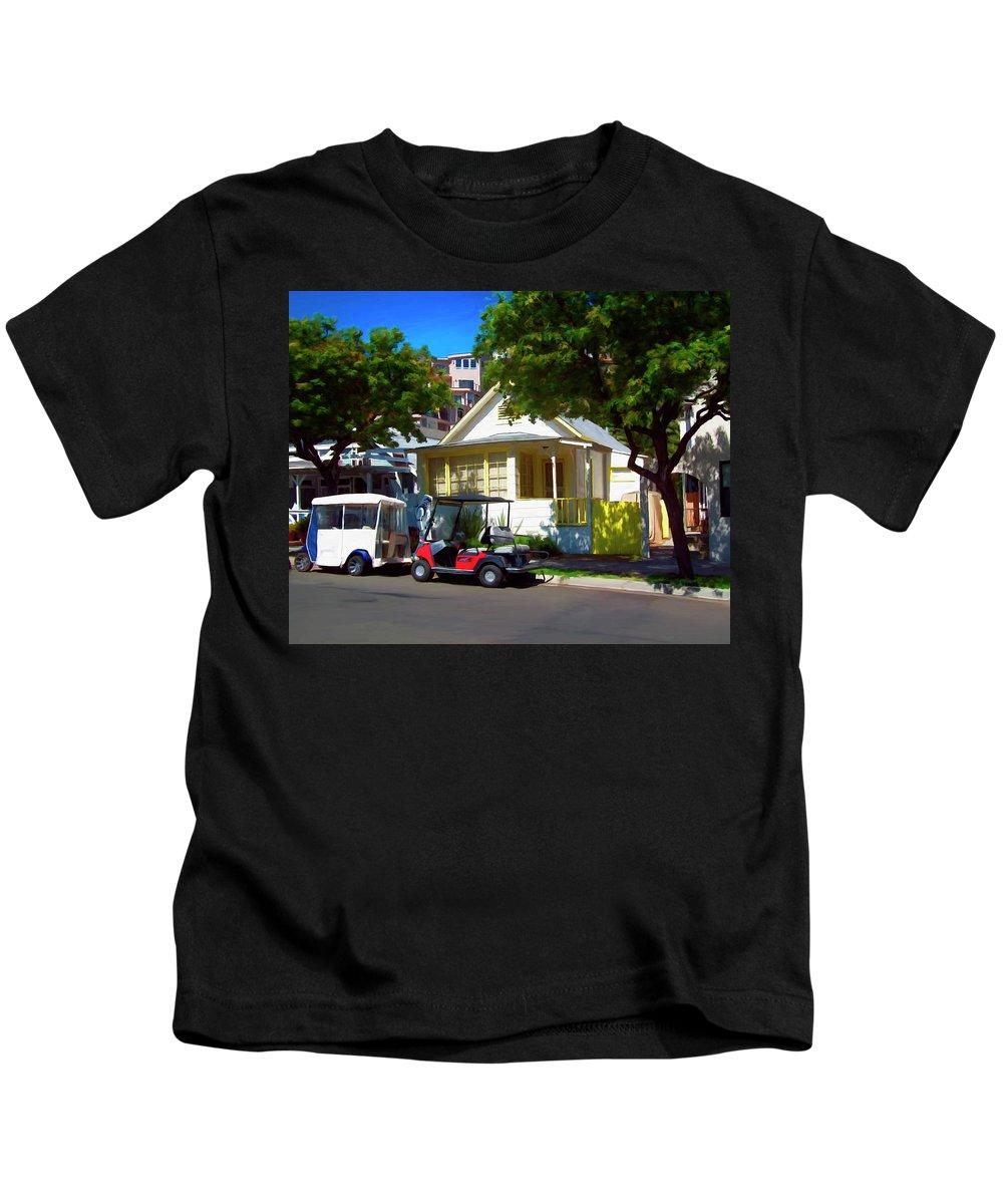Catalina Kids T-Shirt featuring the digital art Social Visit by Snake Jagger