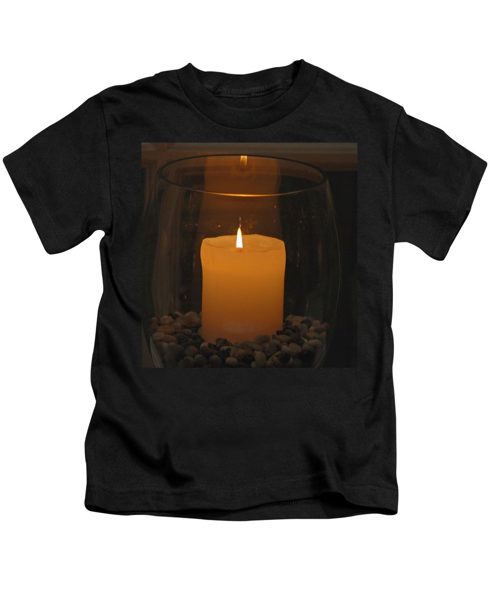 Candle Kids T-Shirt featuring the photograph Soft Glow by Richard Bryce and Family