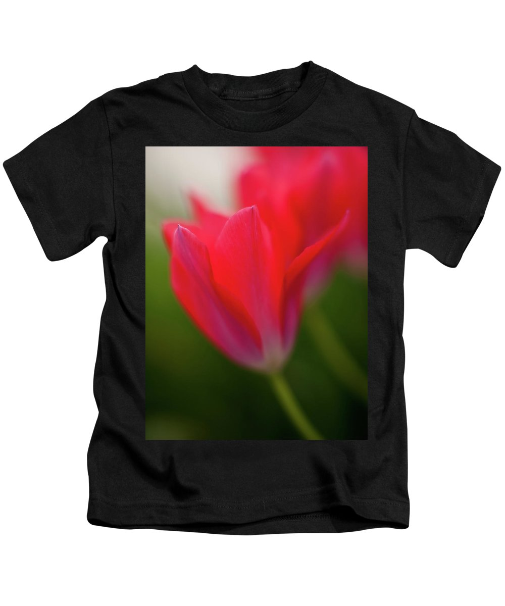 Red Kids T-Shirt featuring the photograph Soft Tulips by Mike Reid