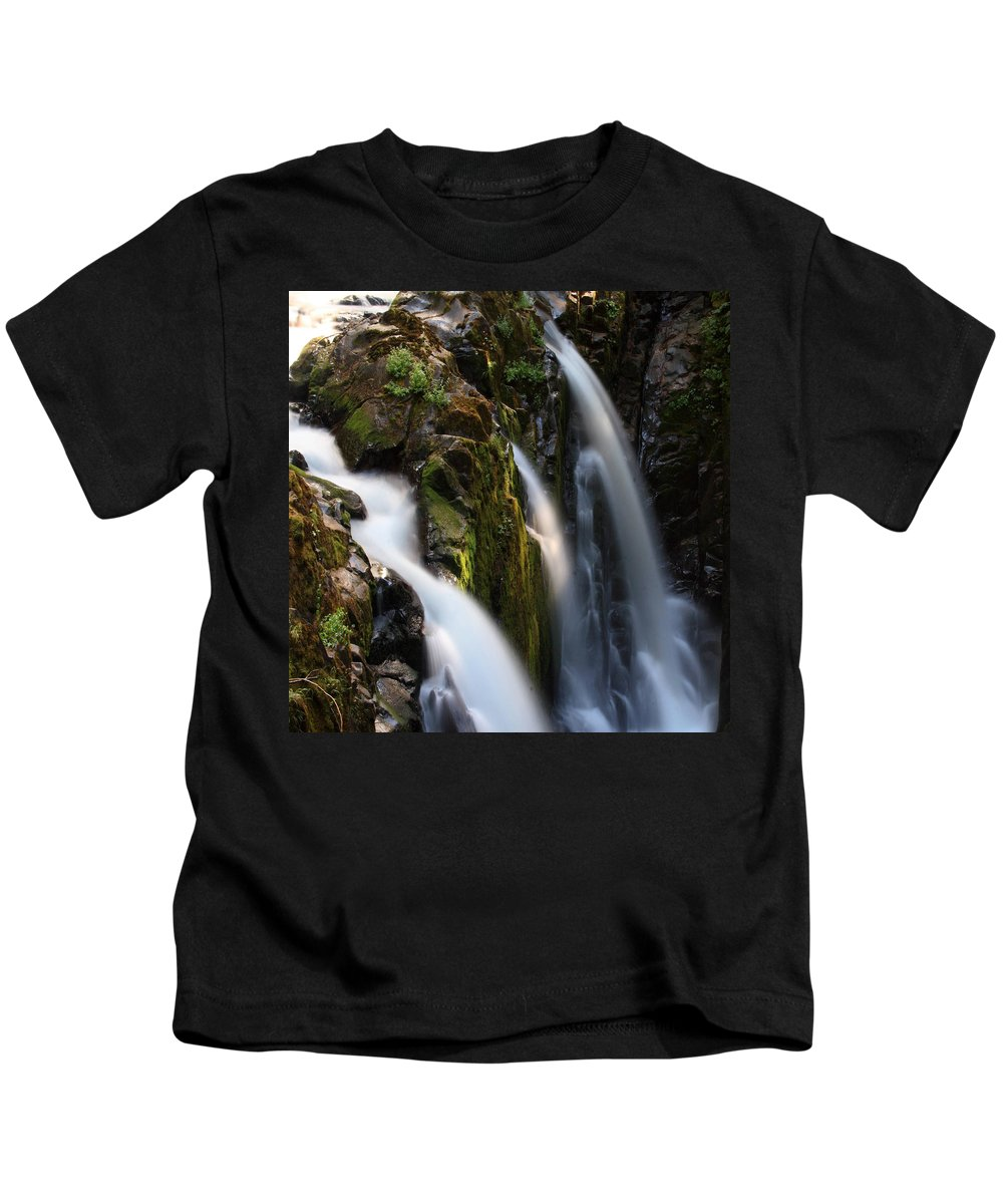 Columbia Gorge Kids T-Shirt featuring the photograph Sol Duc Falls 6 by Ingrid Smith-Johnsen