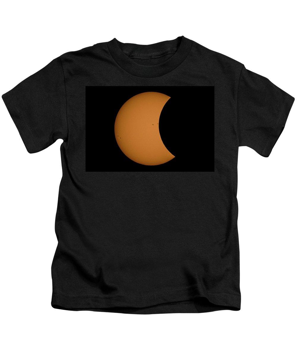 Sun Kids T-Shirt featuring the photograph Solar Eclipse3 by Krystal Billett