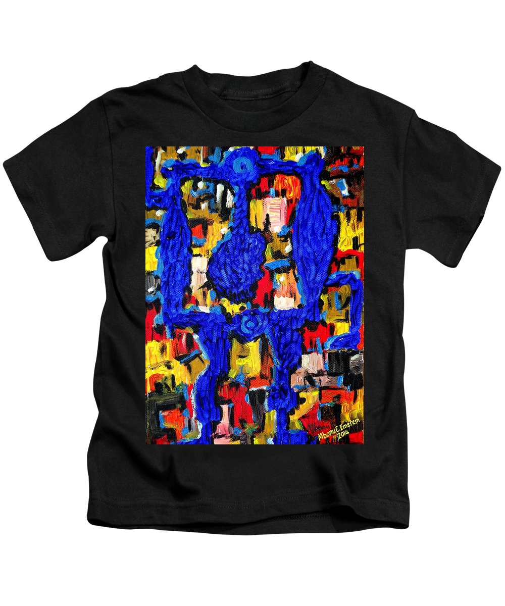 Somebody Kids T-Shirt featuring the painting Somebody Standing On The Promises Of God by Mbonu Emerem