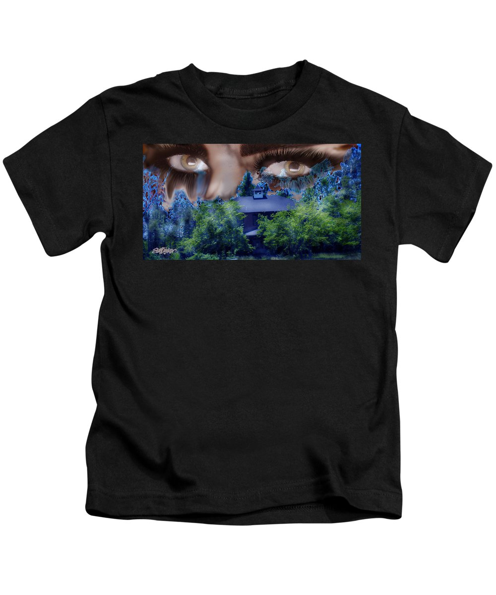Strange House Kids T-Shirt featuring the digital art Something To Watch Over Me by Seth Weaver