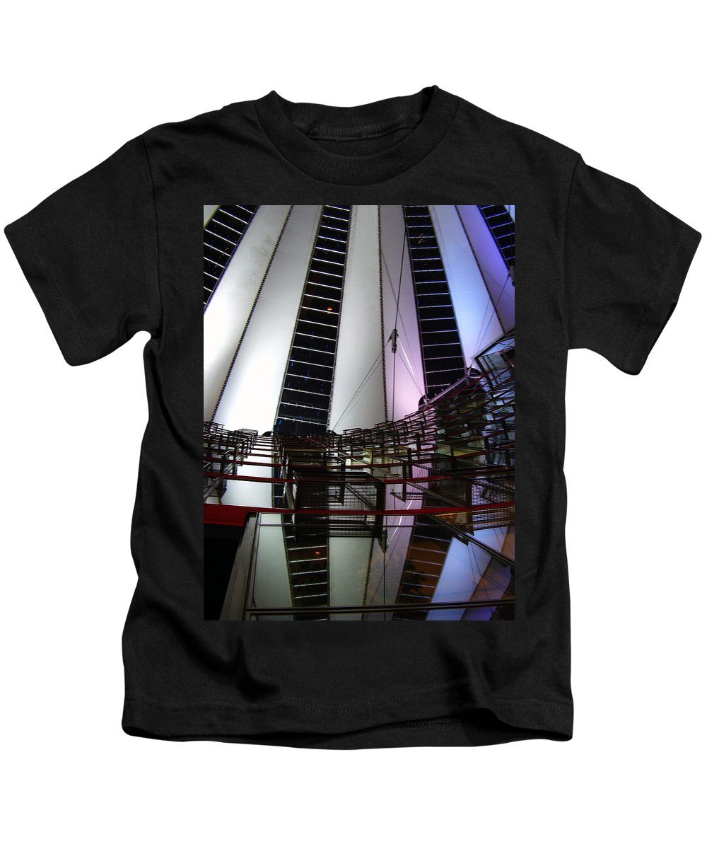 Sony Center Kids T-Shirt featuring the photograph Sony Center II by Flavia Westerwelle