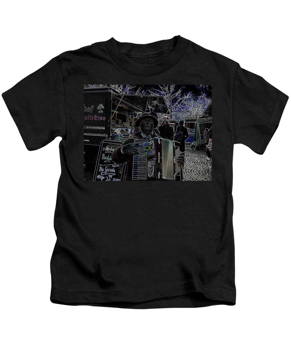 People Kids T-Shirt featuring the photograph Soprano Altered Art by Louis Yamonico