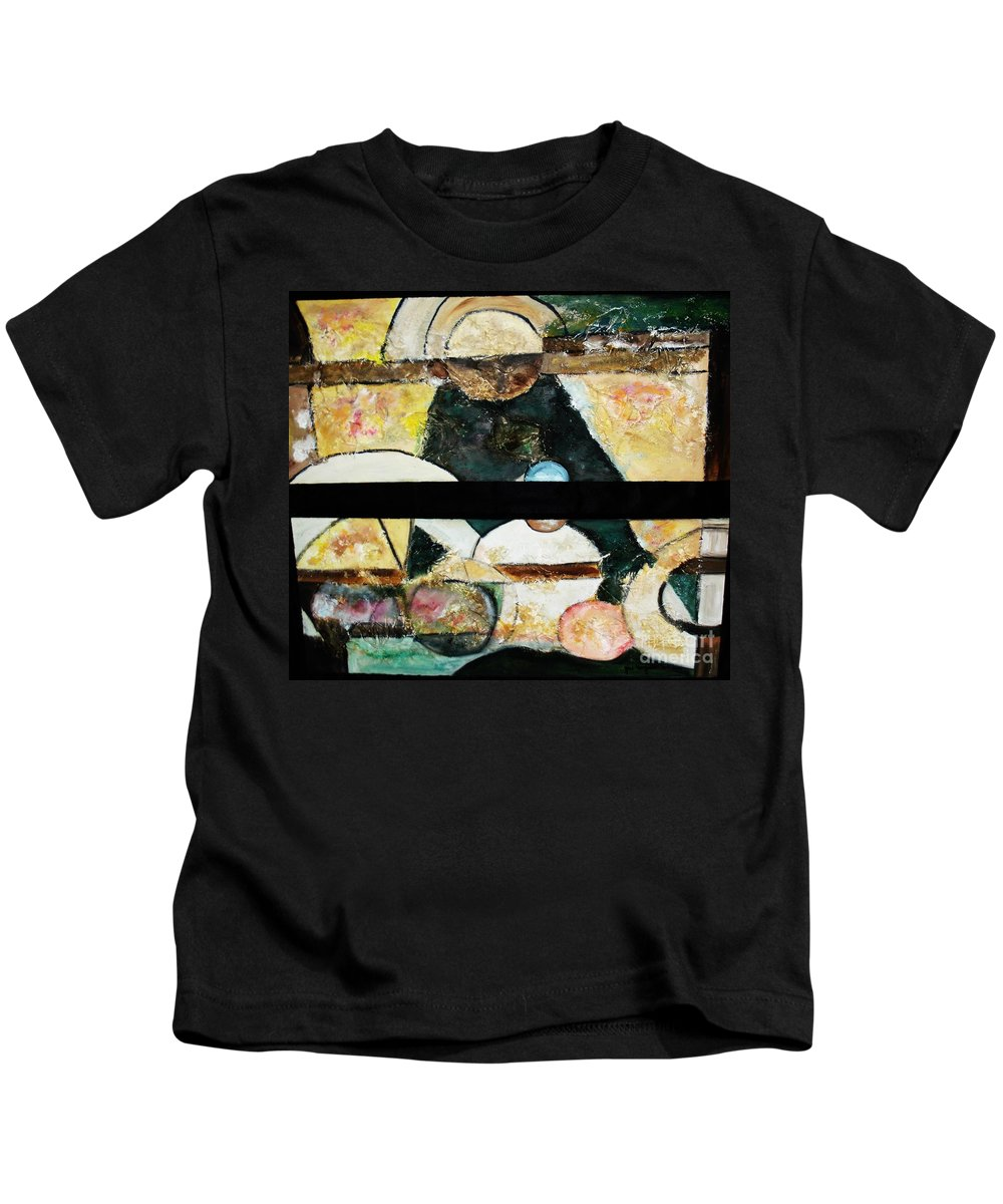Acrylic Painting Kids T-Shirt featuring the painting Soul Mate by Yael VanGruber