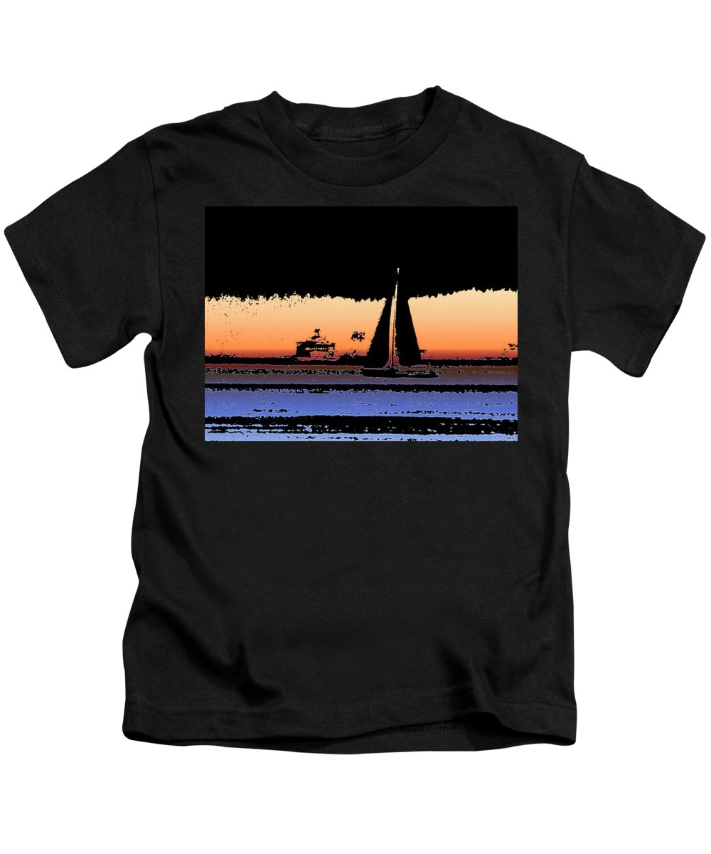 Seattle Kids T-Shirt featuring the photograph Sound Sailin 2 by Tim Allen