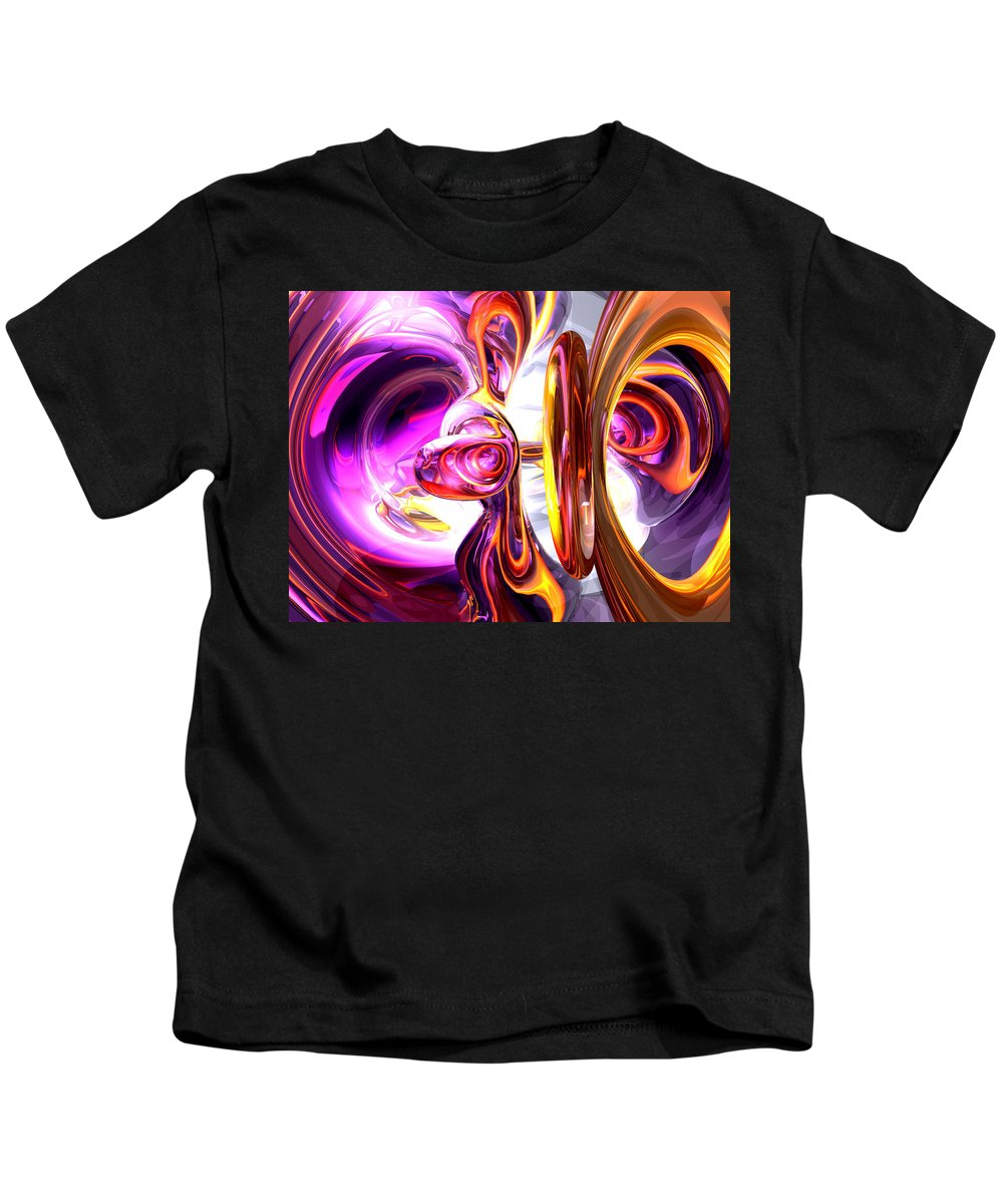 3d Kids T-Shirt featuring the digital art Soundwave Abstract by Alexander Butler