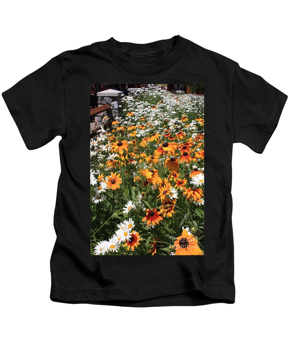 Flowers Kids T-Shirt featuring the photograph South Lake Tahoe Flowers by Carol Groenen