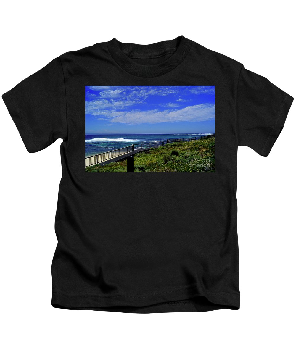 Western Australia Kids T-Shirt featuring the photograph South West Coastline by Cassandra Buckley
