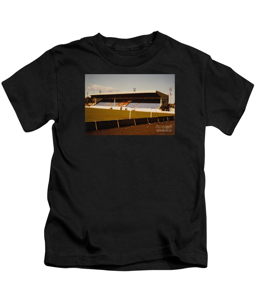 Kids T-Shirt featuring the photograph Southport Fc - Haig Avenue - Main Stand 2 - 1970s by Legendary Football Grounds