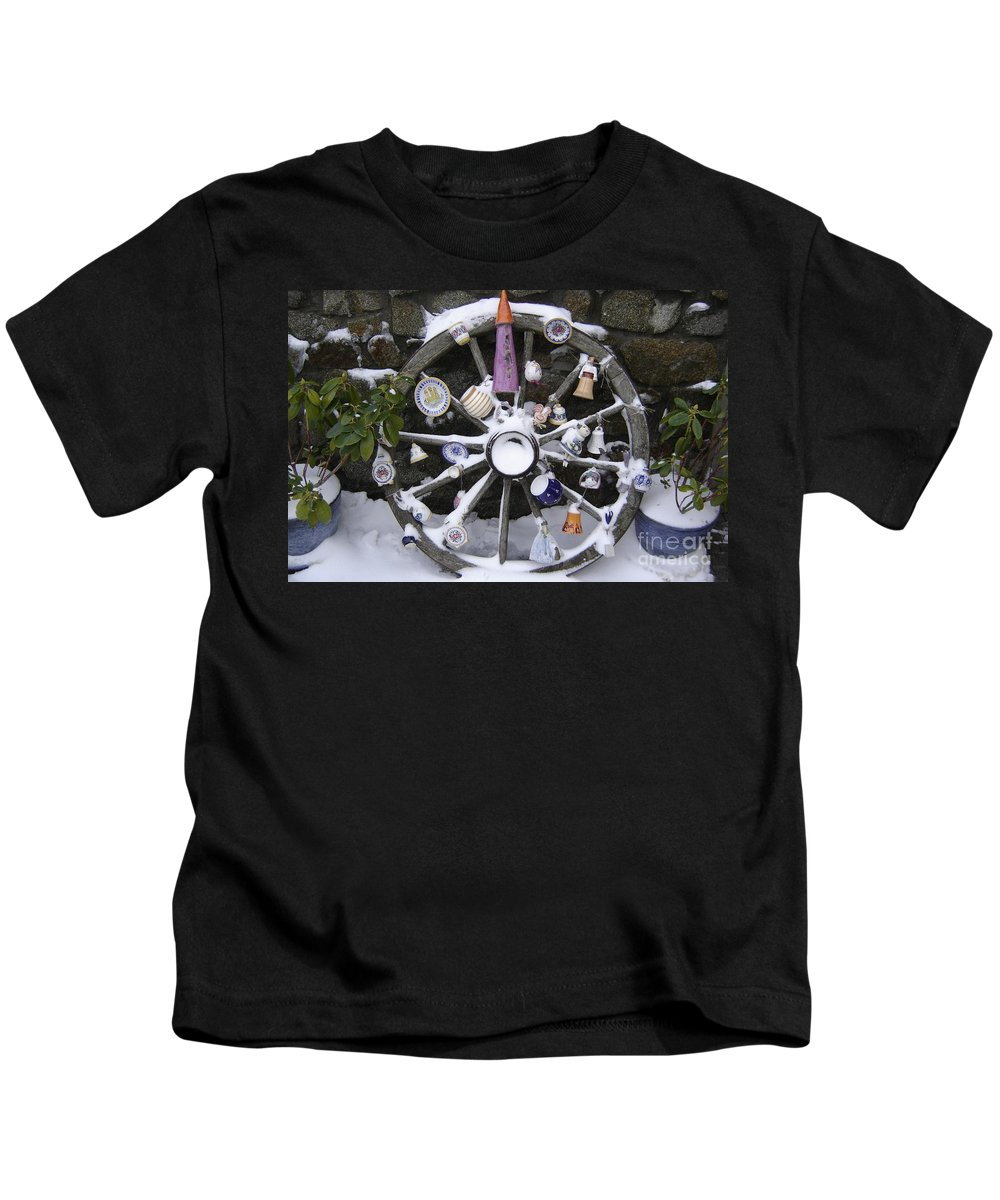 Snow Kids T-Shirt featuring the photograph Souvenirs by Mary Rogers