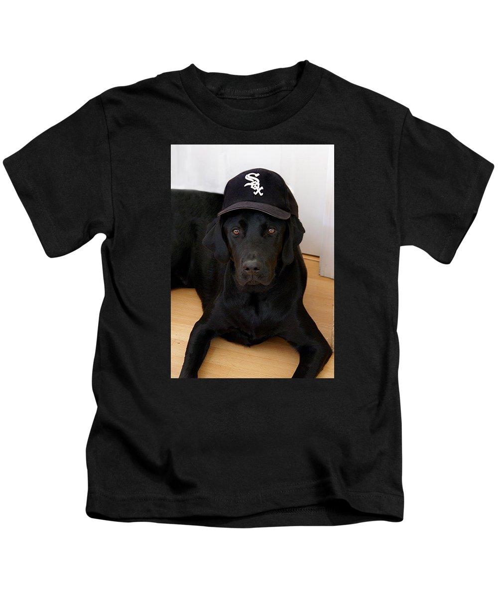 Chicago White Sox Fan Kids T-Shirt featuring the photograph Sox Fan by Martin Massari